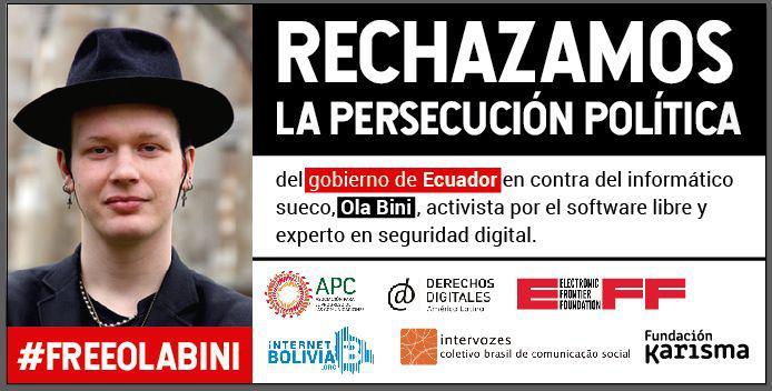 #FreeOlaBini: Persecución contra un defensor de derechos humanos